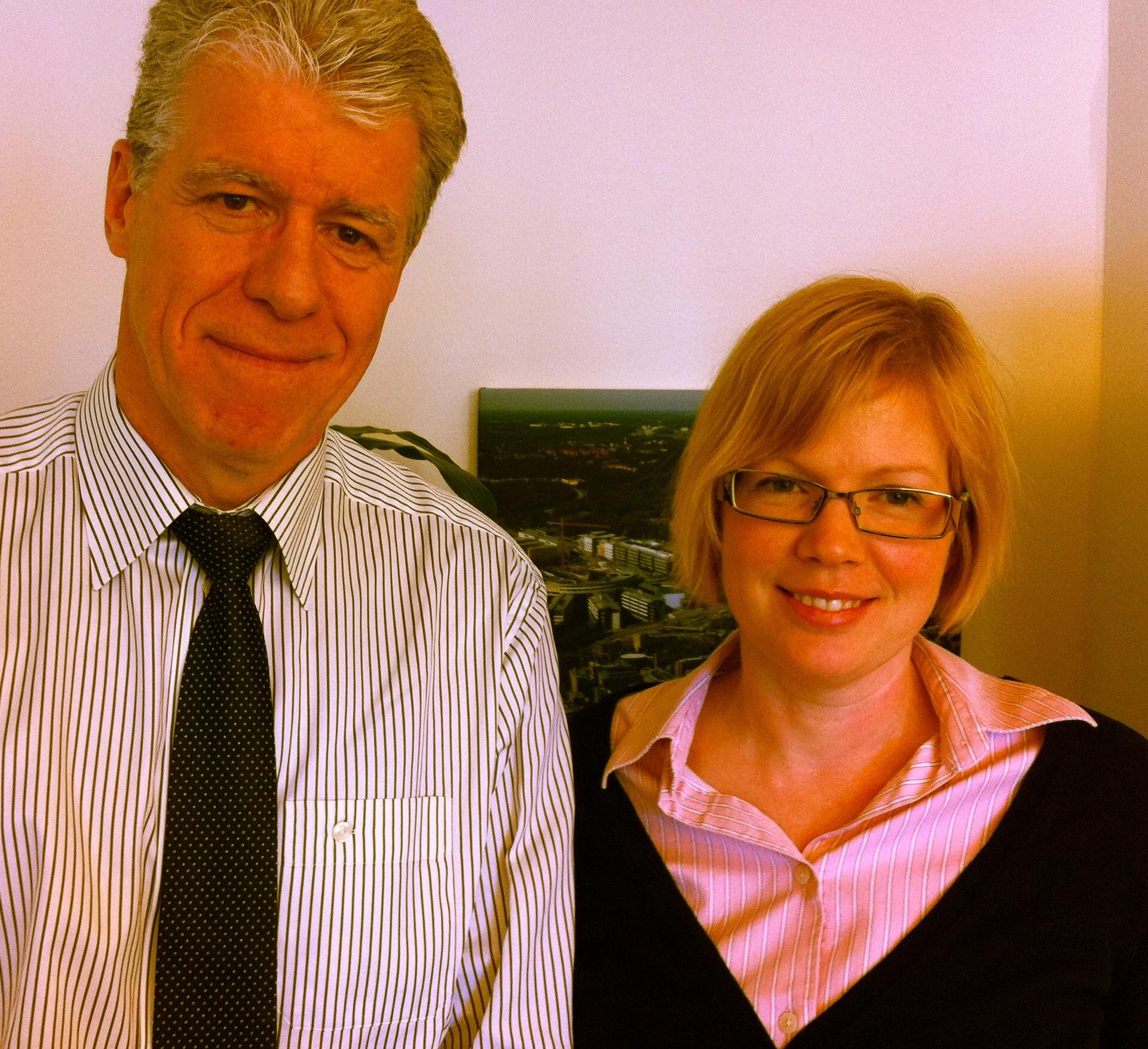 Birgir Jakobsson och jag på Karolinska i Huddinge.