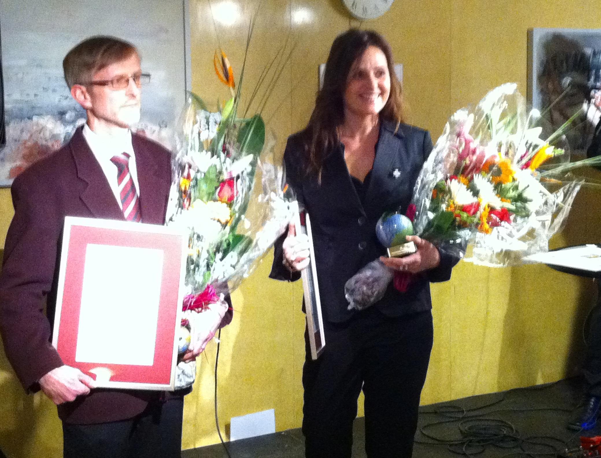 Gunnar Sjölund och Veronica Vicente