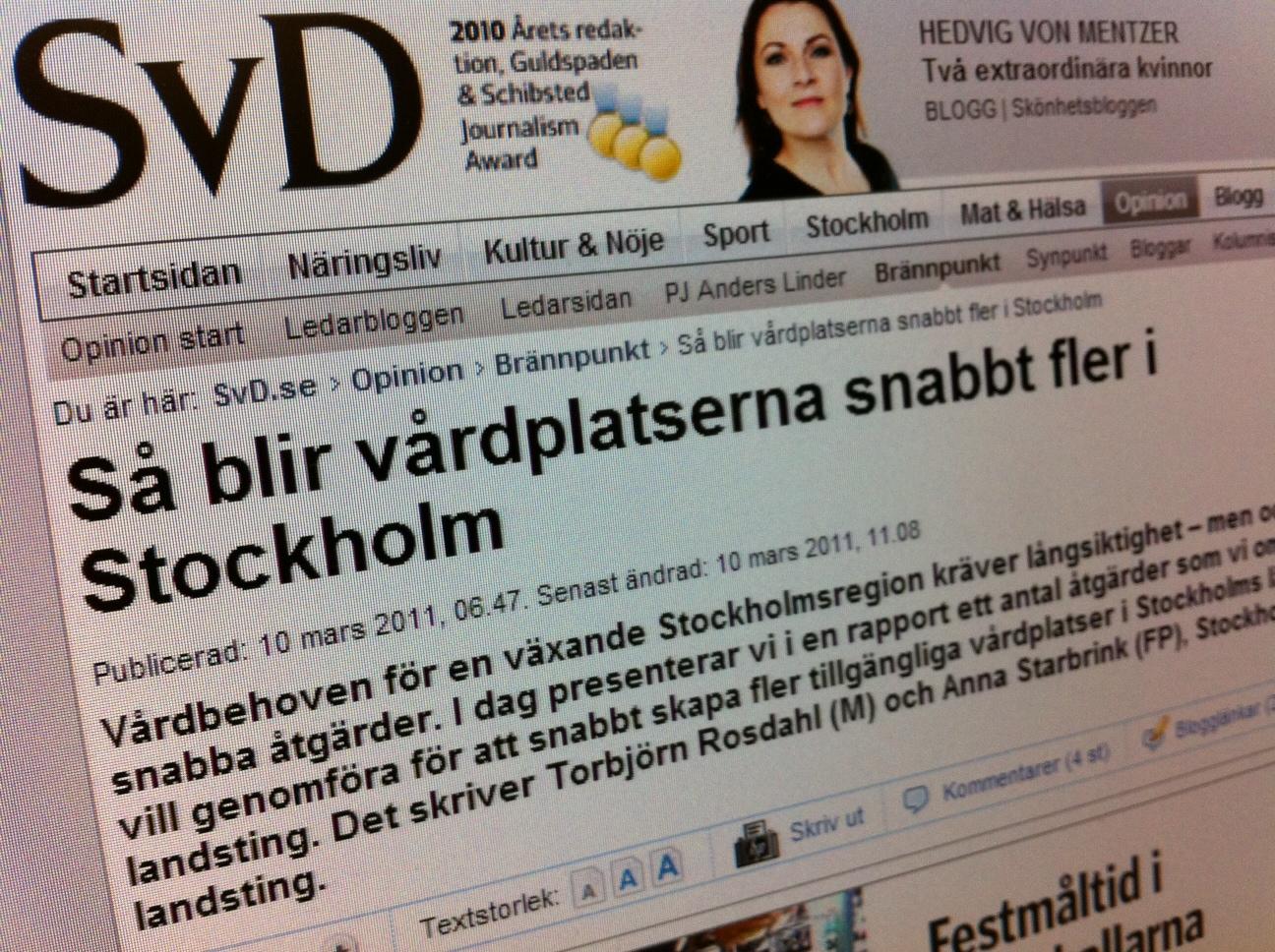 Så blir vårdplatserna snabbt fler i Stockholm.