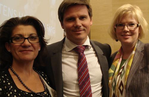 Angeles Bermudez-Svankvist, Erik Ullenhag och jag på seminariet.