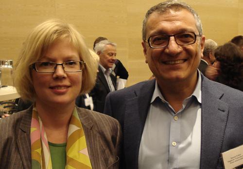Jag och Samuel Sultani, läkare inom landstinget.