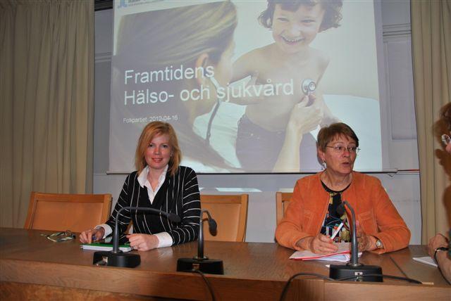 Birgitta Rydberg och jag på möte om Framtidens sjukvård.