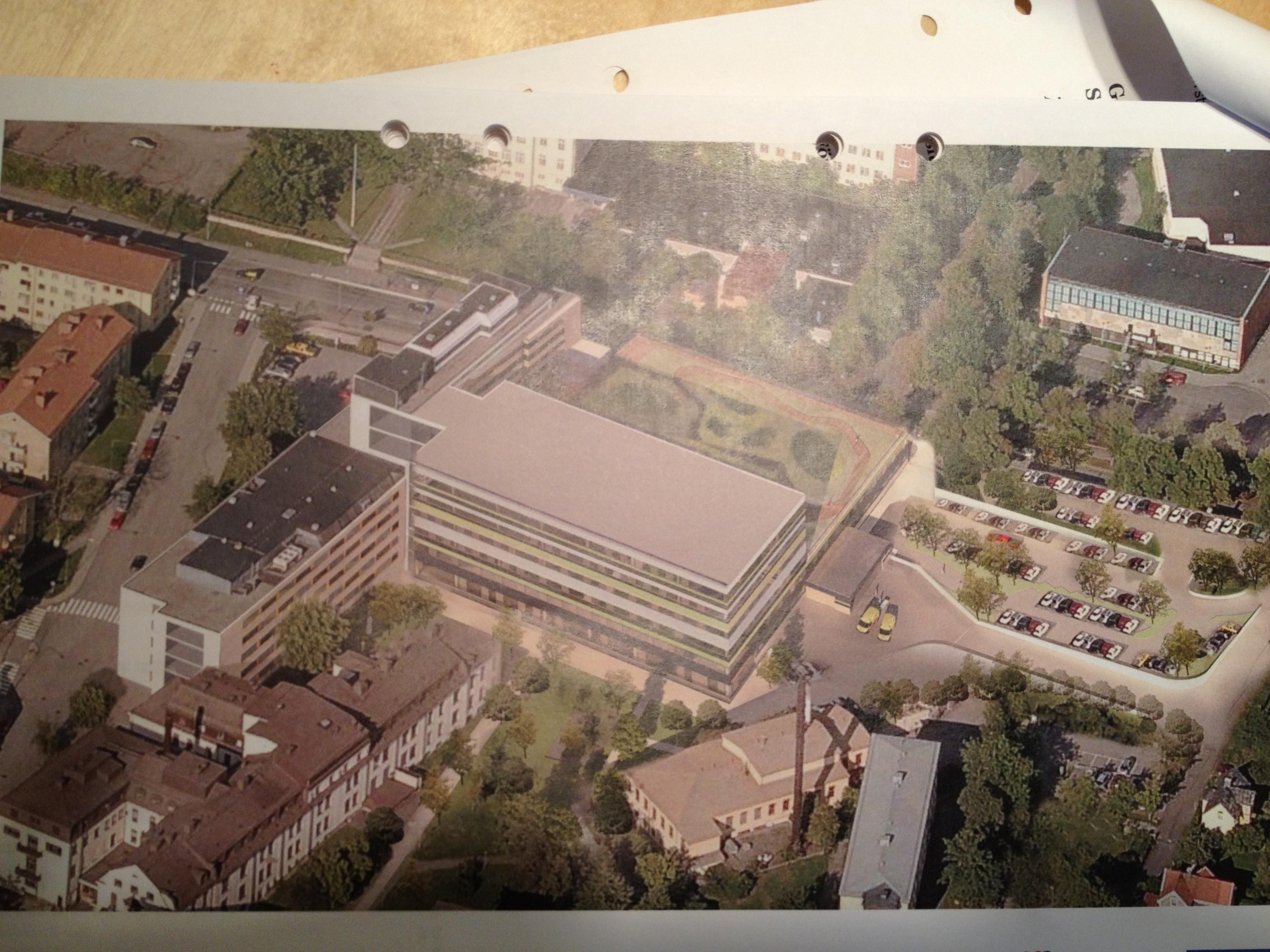 Ny sjukhusbyggnad på gång i Södertälje.