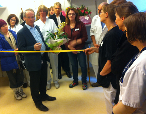Södersjukhusets vd Tomas Movin invigningstalar.