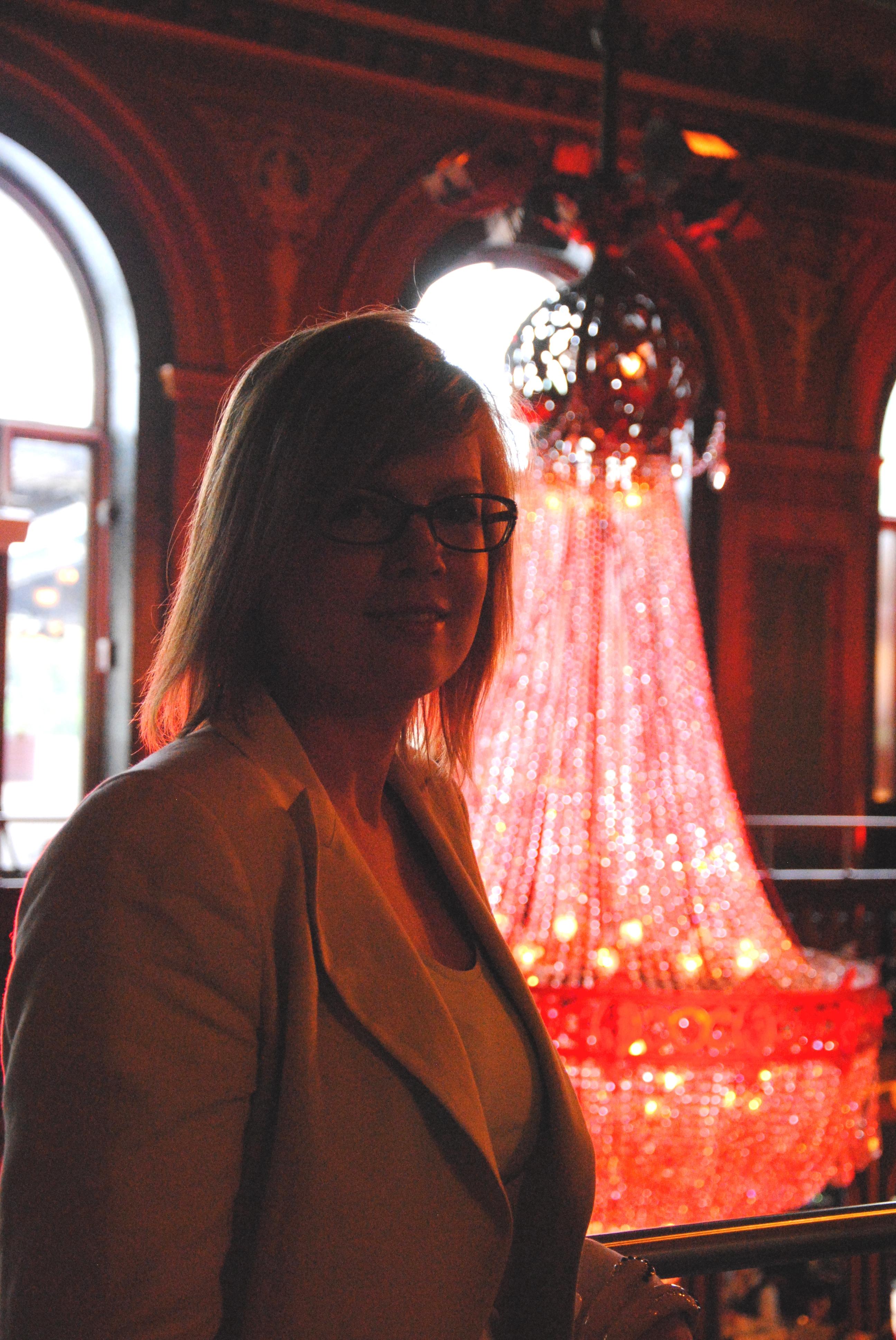 Berns läckra kristallkronor   gav en fin inramning till Filmfestivalens sponsorträff