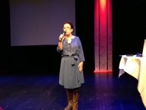 Kulturborgarrådet Madeleine Sjöstedt och jag delade på värdskapet för konferensen.
