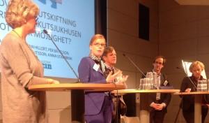 Carola Lemne, Anna Starbrink, Per Båtelson, Jan Hillert och Helene Hellmark Knutsson debatterar.