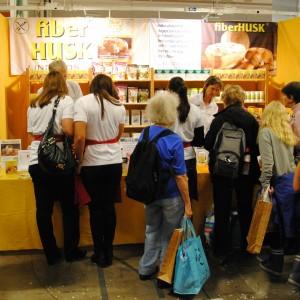 Utställare på Mat för livet-mässan 2013.