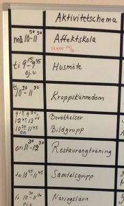 Exempel på aktiviteter som görs på SCÄ.