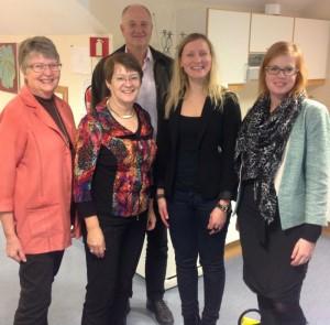 Gunilla Thorsson, Birgitta Rydberg, Anders Skuterud från NPF, Ingrid Kjaernaes på Hjelper'n och jag.