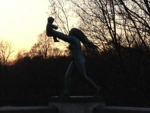En av Gustav Vigelands skulpturer.