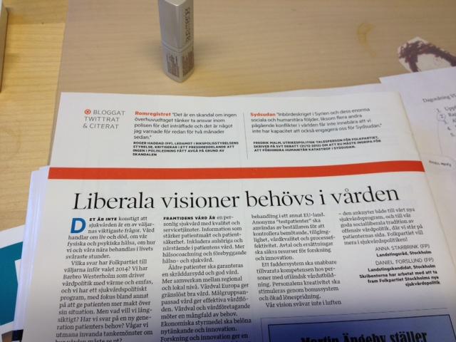 Liberala visioner för vården