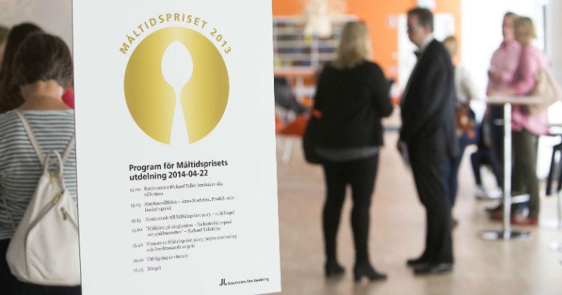 Programmet för prisutdelningen. Foto: Olof Holdar