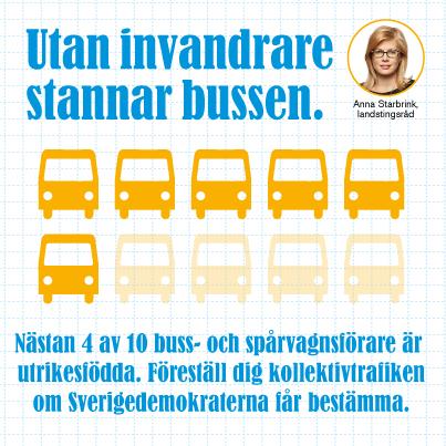 Utan invandrare stannar bussen