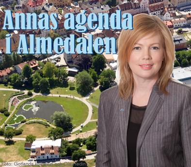 Annas agenda i Almedalen