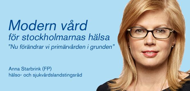 Anna Starbrink (FP): Modern vård för stockholmarnas hälsa