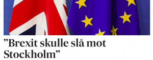 Brexit slår hårt mot Stockholm