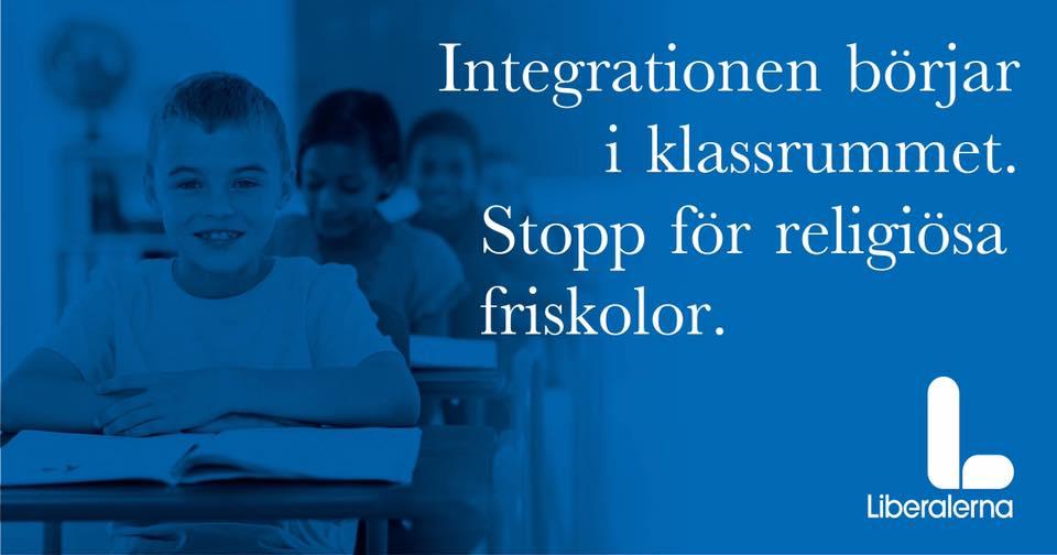 Nej till fler religiösa skolor. Barn har rätt till kunskap.