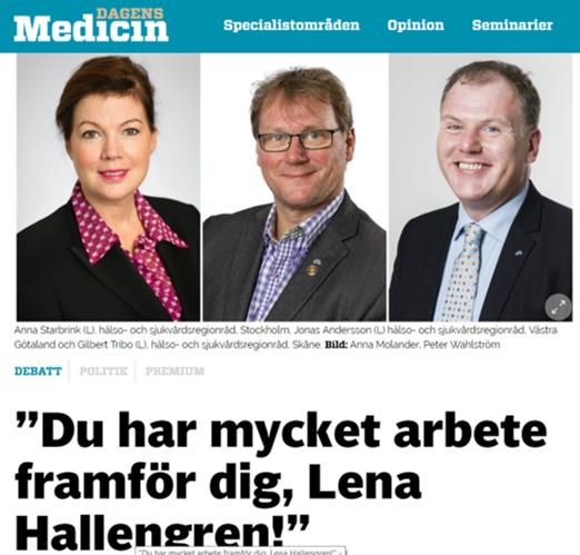 Liberalerna som styr svensk sjukvård